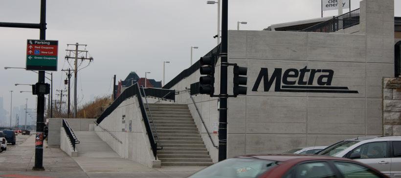Metra 35th  Commuter Rail Stop